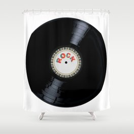 Rock Record Shower Curtain