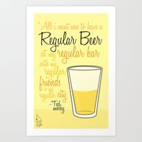 how i met your mother Art Prints featuring Tv drink quotes [how i met your mother] by Fabio Castro