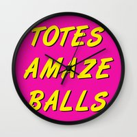 totes Wall Clocks featuring Totes Amaze Balls by missmim