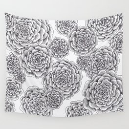 "flowers or ""pinecones from top"" hand drawn Wall Tapestry"