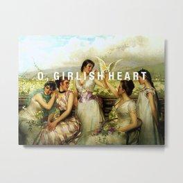o, girlish heart Metal Print