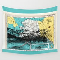 alaska Wall Tapestries featuring Alaska by Ursula Rodgers