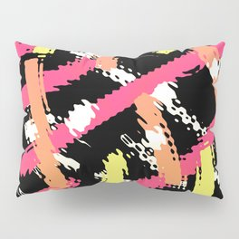 Color In The Lines Abstract Pop Art Pillow Sham