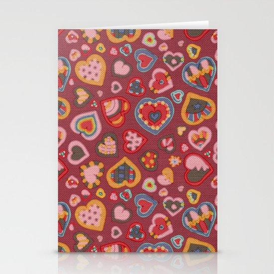 I Heart Patterns Stationery Cards
