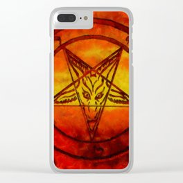 Satan's Sigil by SK Clear iPhone Case