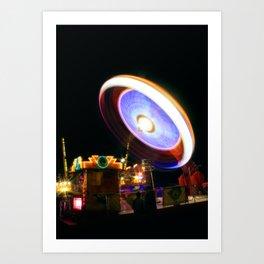 Fairground Spinner Art Print