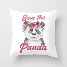 Save the Panda -#1 Throw Pillow