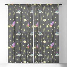 Cosmic pattern Sheer Curtain