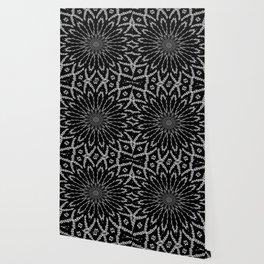 Shooting Star Black and White Kaleidoscope Wallpaper