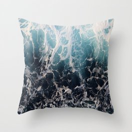 Blue Wave Surf Throw Pillow