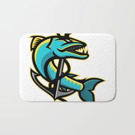 Barracuda and Anchor Mascot Bath Mat