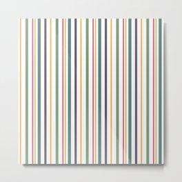 A fun striped pattern . 2 Metal Print