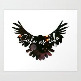 Raven Cycle Safe As Life Art Print