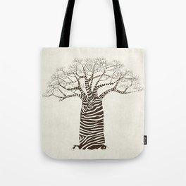 Zebra Tree Tote Bag