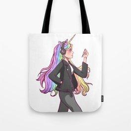 Sage the cool unicorn girl Tote Bag