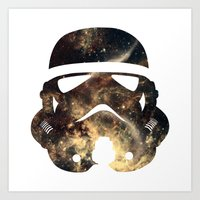 stormtrooper Art Prints featuring Stormtrooper by Benedikte