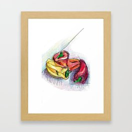 Chili drawing Framed Art Print