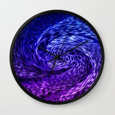 ORCHID ABSTRACT Wall Clock