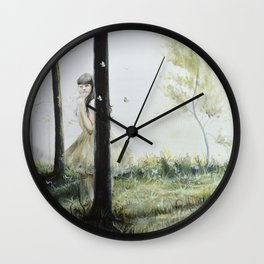 Hide and Seek Wall Clock