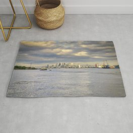 The skyline of London Rug