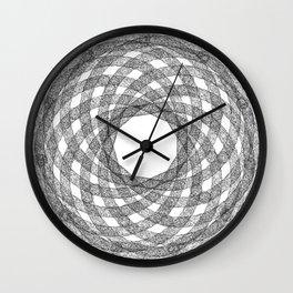 GEOMETRIC NATURE: HELIX w/b Wall Clock