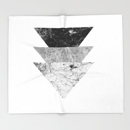 Night marble triangles Throw Blanket