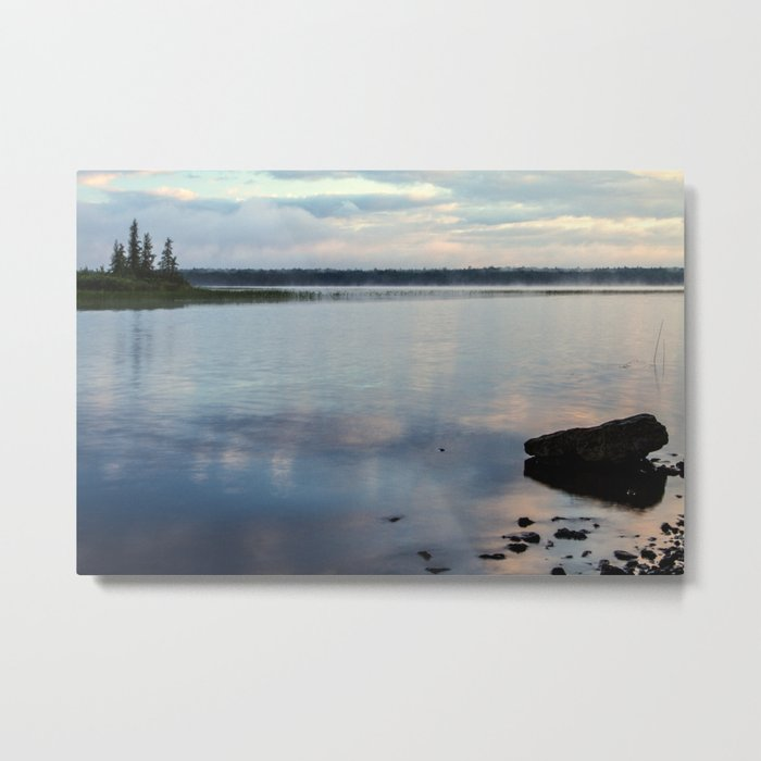 on the lake Metal Print