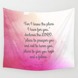 Jeremiah 29:11, Encouraging Bible Verse Wall Tapestry