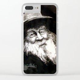 Walt Witman Clear iPhone Case