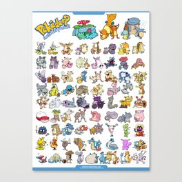 Pokémon - Gotta derp 'em all! - White edition Canvas Print