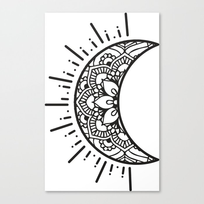 Half Moon Drawing Canvas Print By Aterkaderk Society6