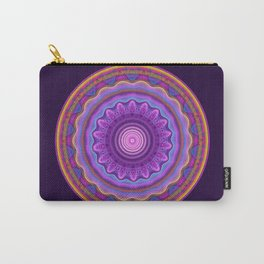 Colourful mandala with waves and tribal patterns Carry-All Pouch