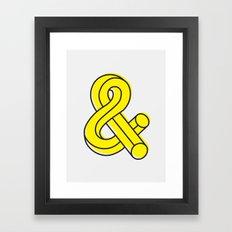 Ampersand Framed Art Print