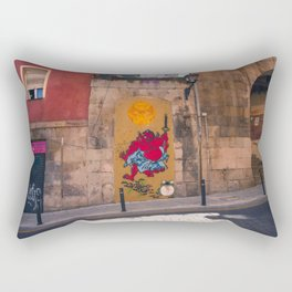 Frog and Sumo Rectangular Pillow