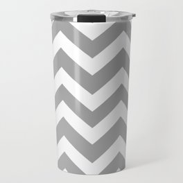 Quick Silver - grey color - Zigzag Chevron Pattern Travel Mug