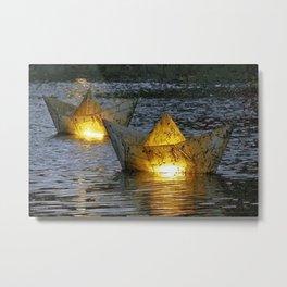 Paper boats Metal Print