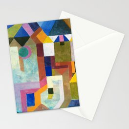 12,000pixel-500dpi - Paul Klee - Digital Remastered Edition - Colorful Architecture Stationery Cards