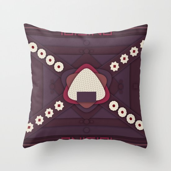 Onigiri Throw Pillow