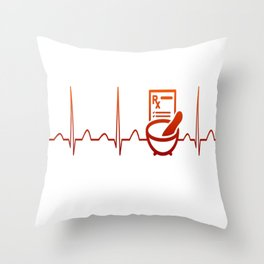 PHARMACIST HEARTBEAT Throw Pillow