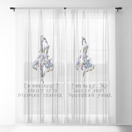 Alice floral designs - I'm not crazy Sheer Curtain