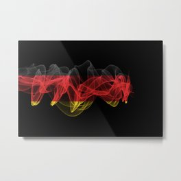 Germany Smoke Flag on Black Background, Germany flag Metal Print