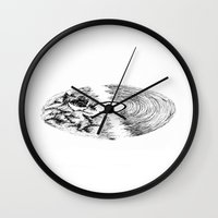 record Wall Clocks featuring Record  by Lucky Stripe Designs