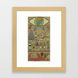 A Most Sacred Tablet Framed Art Print