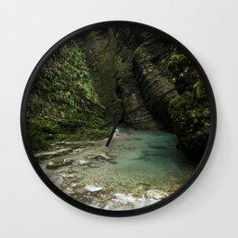 Soca River Gorge Wall Clock