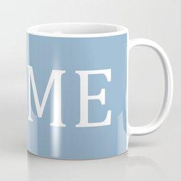 Home word on placid blue background Coffee Mug