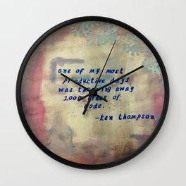 I love to code! Wall Clock