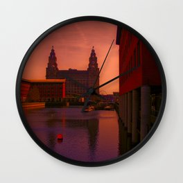 The Liver Building from the Princes Dock Wall Clock