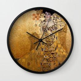 Portrait of AdeleBloch Bauer by Gustav Klimt Wall Clock