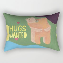 reminder-bear hugs wanted, always. Rectangular Pillow