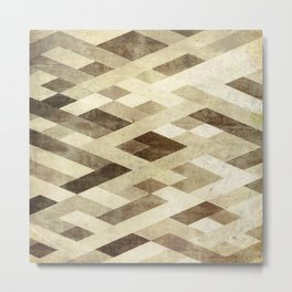 Abstract Pattern in Brown Metal Print